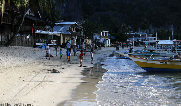 El Nido beach shadow light Palawan Philippines
