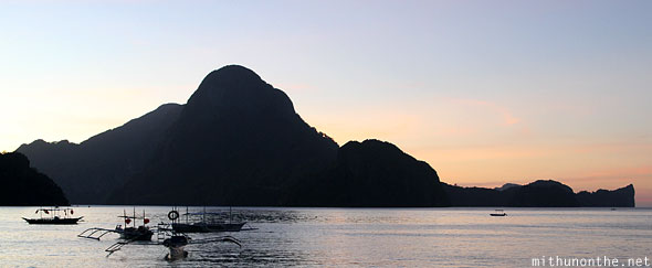 El Nido beach sunset Palawan Philippines