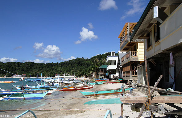 El Nido beachfront lodging hotels Palawan Philippines