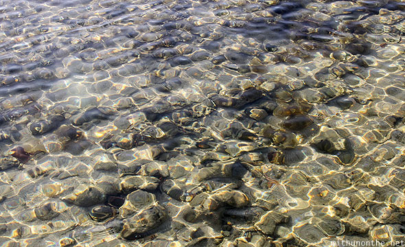 El Nido clear water pebble stones Palawan
