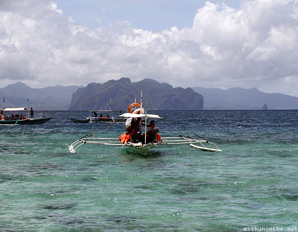 El Nido islands banco boats Palawan Philippines