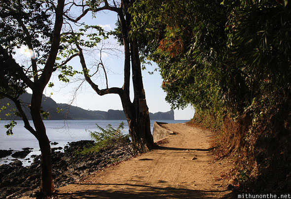 El Nido path along beach Palawan Philippines