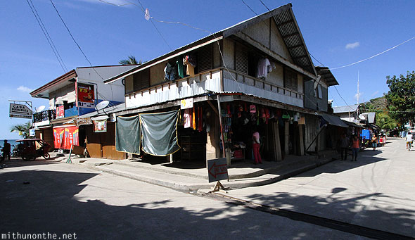 El Nido shops house lane Palawan Philippines