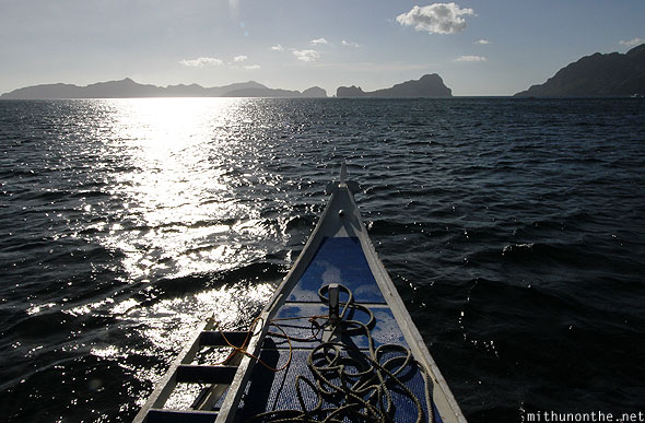 El Nido sunset boat ride sea Palawan Philippines