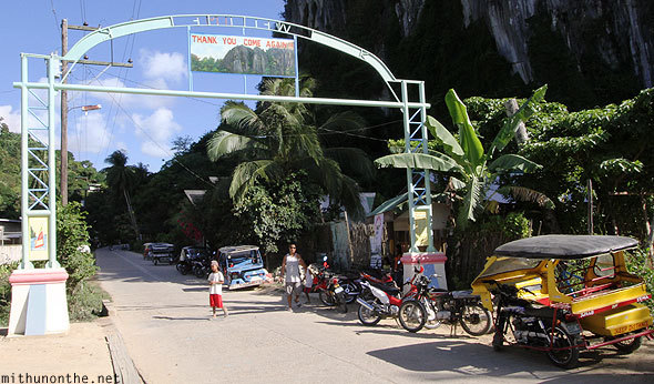 El Nido village welcome sign Palawan