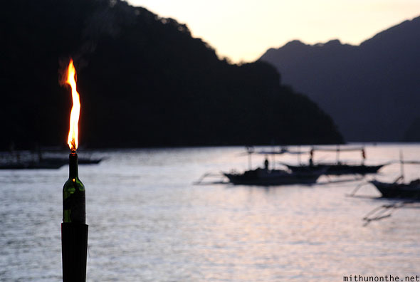 El Nido bottle flame light Palawan
