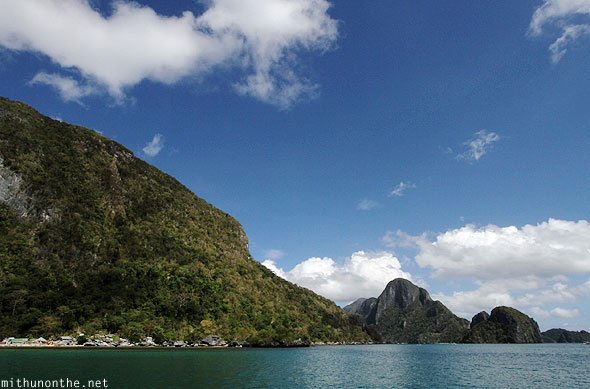 El Nido hills in sea Palawan Philippines