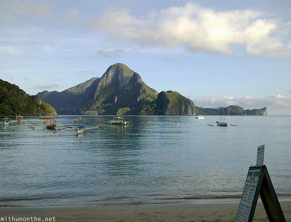 El Nido karst hills sea morning Palawan Philippines