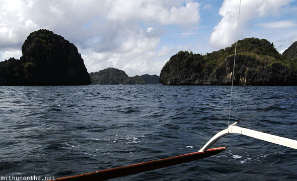 El Nido limestone rocks sea Palawan Philippines