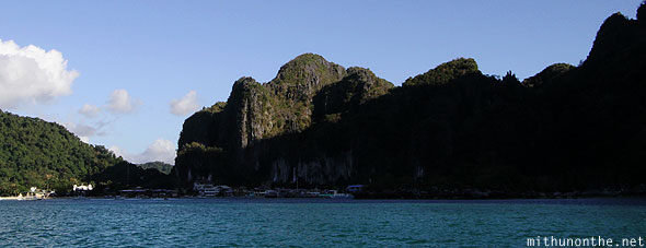 El Nido Palawan hills blocking sunset Philippines
