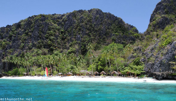 Entalula island private beach Palawan Philippines