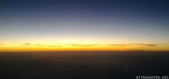 Evening sunset sky Philippines aerial photography