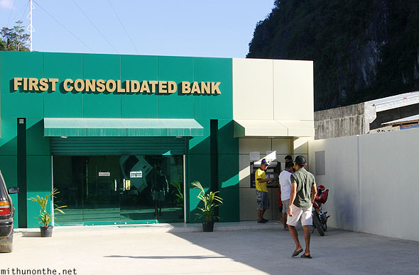 First Consolidated bank atm El Nido branch Palawan Philippines