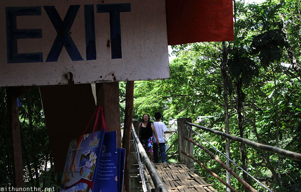 Hanging bridge exit Bohol