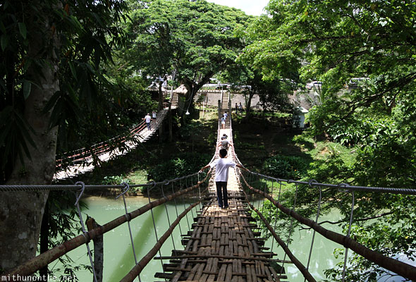 Hanging bridge over Loboc river Bohol