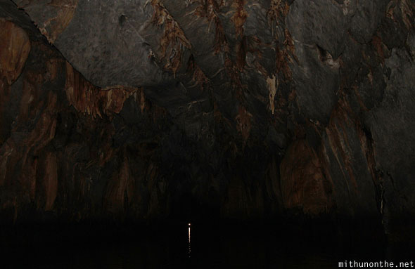 Inside underground river cave ceiling Puerto Princesa Palawan