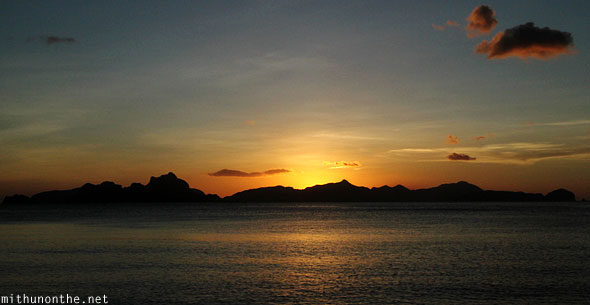 Las Cabanas beach evening sunset Palawan Philippines
