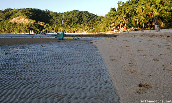 Las Cabanas wave ripple mud sand Palawan Philippines