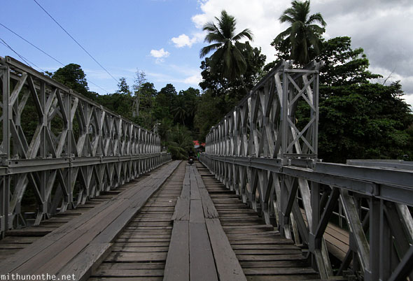 Loboc river bridge Bohol Philippines