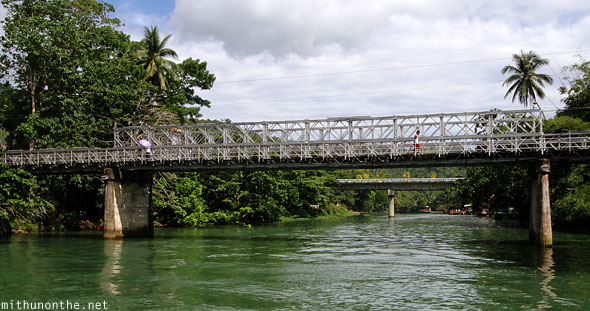 Loboc river bridges Bohol Philippines