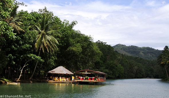 Loboc river cruise entertainment platforms Bohol