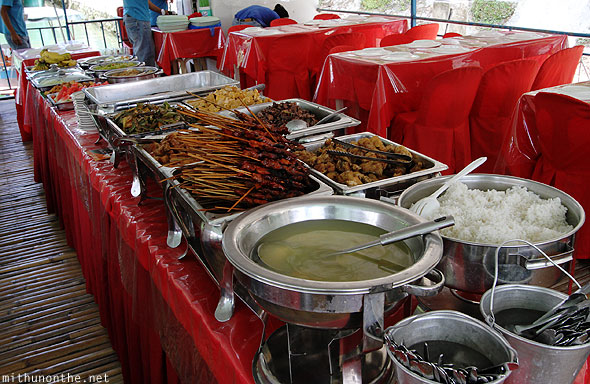 Loboc river cruise lunch buffet Bohol Philippines