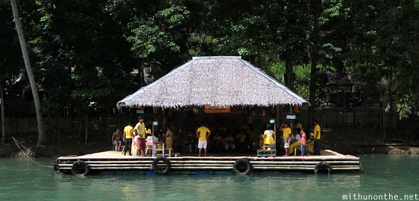 Loboc river cruise singing locals platform Bohol