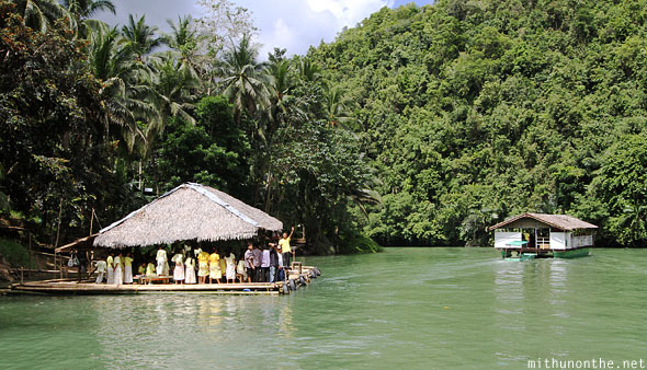 Loboc river cruise village dance platform