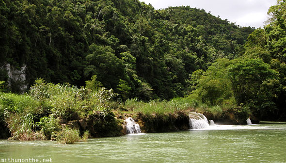 Loboc river mini waterfall Bohol Philippines