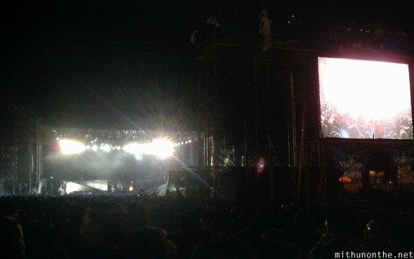 Metallica concert Bangalore India crowd
