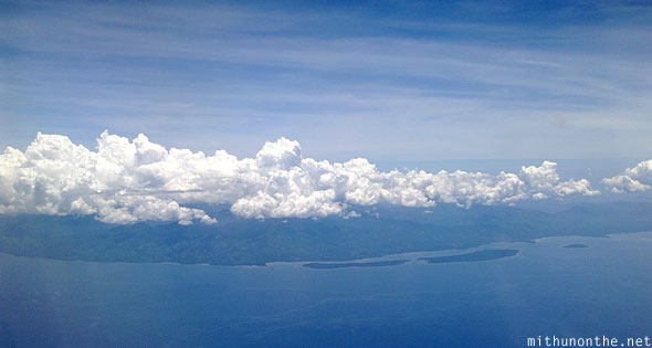Palawan island aerial view Philippines