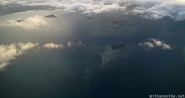 Palawan island sea from sky Philippines