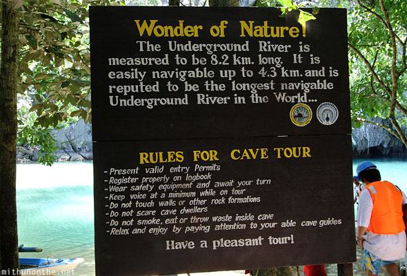 Puerto Princesa national park cave tour rules Palawan