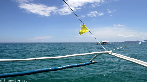 South China sea Filipino outrigger boat Philippines