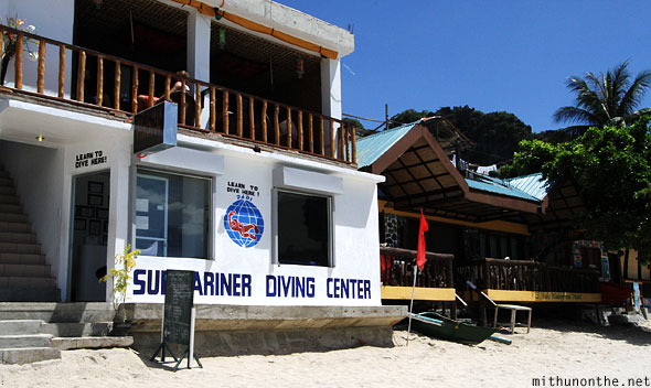 Submariner diving center El Nido beach Palawan Philippines