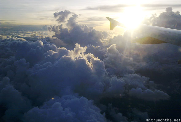 Sunset clouds aerial photograph Philippines