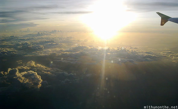 Sunset sky aerial photography Palawan Philippines