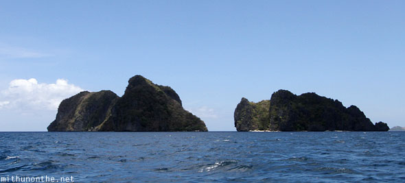 Twin islands El Nido Palawan Philippines