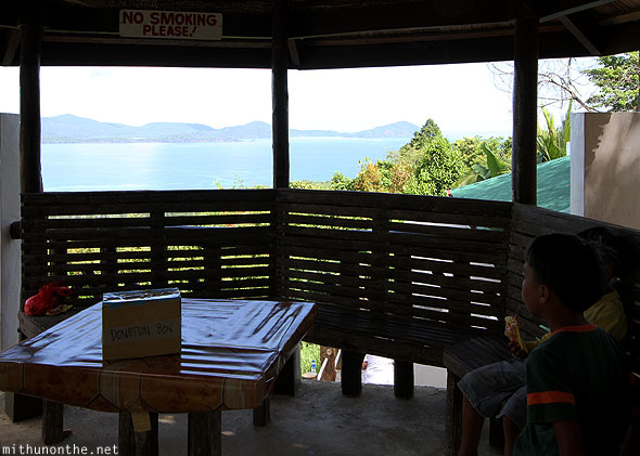 Viewdeck on the way in Palawan