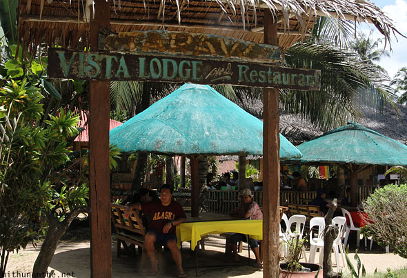 Vista Lodge and restaurant Sabang beach Puerto Princesa Palawan