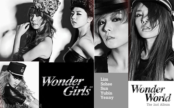 Wonder Girls Wonder World album cover art Mithun