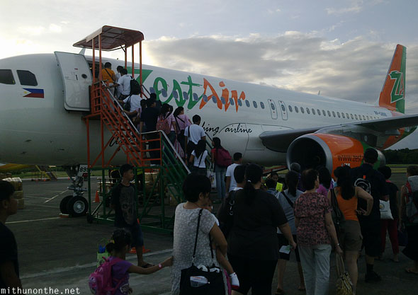Zest Air Puerto Princesa to Manila evening flight