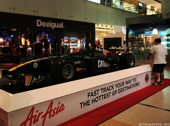 Air Asia Lotus F1 car display Suntec City Singapore