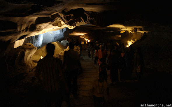 Belum caves visitors crowd Andhra Pradesh India