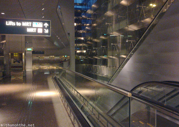 Changi Airport way to MRT station Singapore