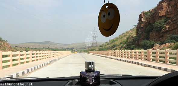 Driving to Gandikota bridge