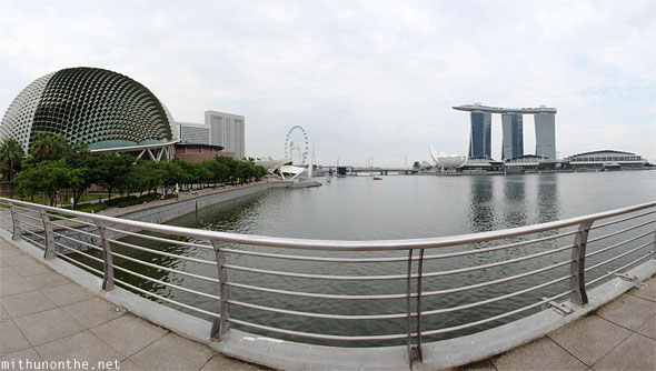 Esplanade Marina Bay panorama view Singapore