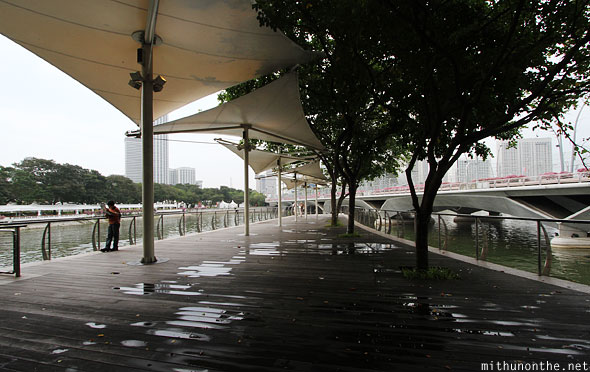 Esplanade park canopy wooden boards Singapore