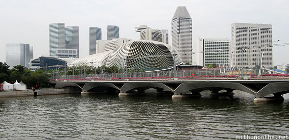Esplanade theatre singapore river quay