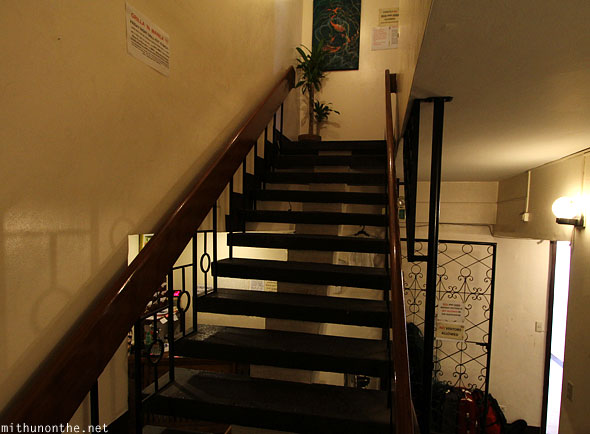 Friendly's Guesthouse stairs to rooftop Malate Manila